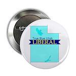 """2.25"""" Button (10 pack) True Blue Utah LIBERAL"""
