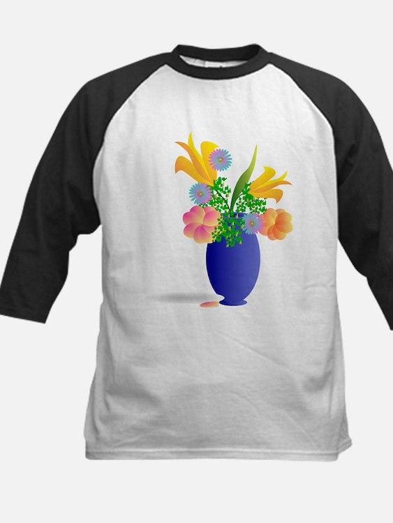 Spring Bouquet in Blue Vase Baseball Jersey
