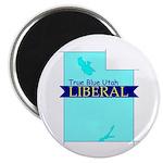 """2.25"""" Magnet (10 pack) True Blue Utah LIBERAL"""