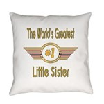 GREENlittlesister.png Everyday Pillow