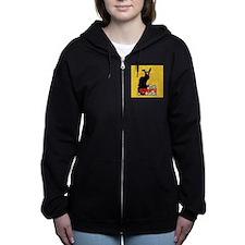 Happy Easter - Le Chat Noir Women's Zip Hoodie