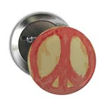 Rough Red Peace Symbol Button