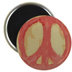 Rough Red Peace Sign Magnet