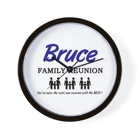 Bruce Family Reunion Wall Clock