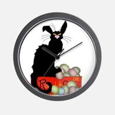 Happy Easter - Le Chat Noir Wall Clock