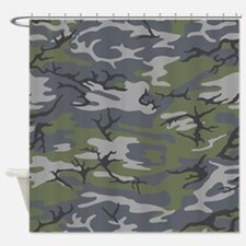 Weathered Outcrop Camo Shower Curtain