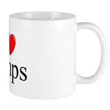 """""""I Love (Heart) Pimps"""" Mug"""