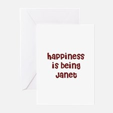 happiness is being Janet Greeting Cards (Package o
