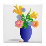 Flowers in vase Drink Coasters