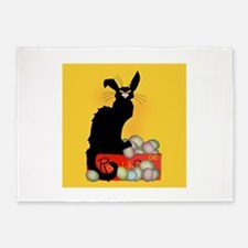 Happy Easter - Le Chat Noir 5'x7'Area Rug