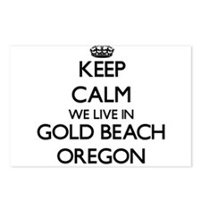 Keep calm we live in Gold Postcards (Package of 8)
