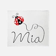 Ladybug Mia Throw Blanket