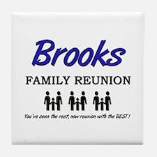 Brooks Family Reunion Tile Coaster
