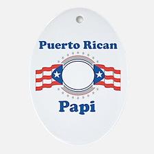 Puerto Rican Papi Oval Ornament