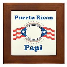 Puerto Rican Papi Framed Tile