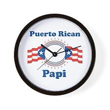 Puerto Rican Papi Wall Clock