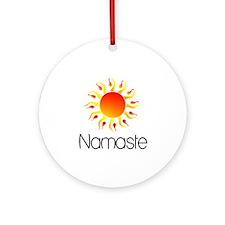 Namaste Sun 3 Ornament (Round)
