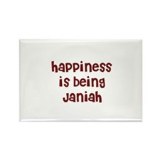 happiness is being Janiah Rectangle Magnet