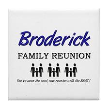 Broderick Family Reunion Tile Coaster