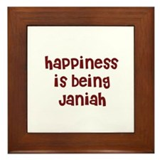 happiness is being Janiah Framed Tile