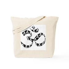 skulls in Om Tote Bag