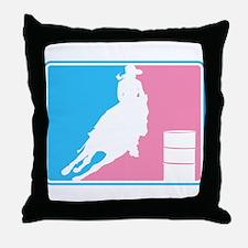 Barrel Racer (ML-Pink) Throw Pillow