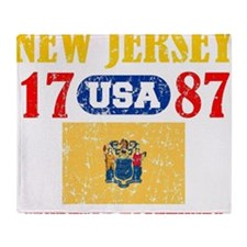 "NEW JERSEY / USA 1787 STATEHOOD ""PER Throw Blanket"