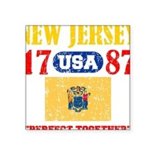"NEW JERSEY / USA 1787 STATE Square Sticker 3"" x 3"""