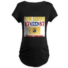 NEW JERSEY / USA 1787 STATEHOOD Maternity T-Shirt