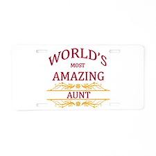 Aunt Aluminum License Plate