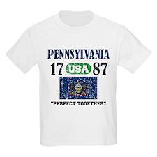 "PENNSYLVANIA / USA 1787 STATEHOOD ""P T-Shirt"