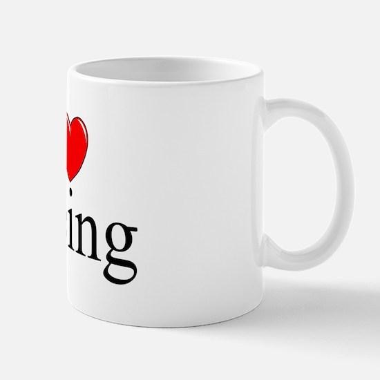 """I Love (Heart) Peeing"" Mug"