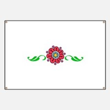 FLOWER AND LEAVES Banner