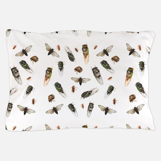 A mess of cicadas Pillow Case