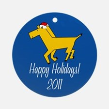 Horse Happy Holidays! Round Ornament