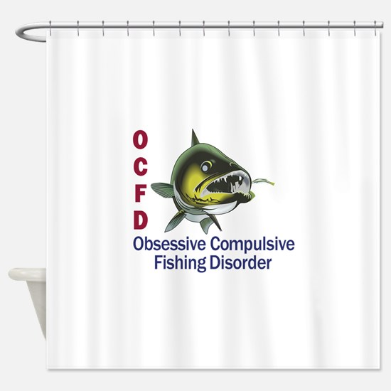 OCFD WALLEYE Shower Curtain