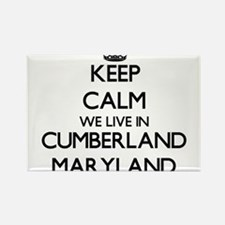 Keep calm we live in Cumberland Maryland Magnets
