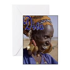 ORIGINAL DIVA - MALI WOMAN Greeting Cards