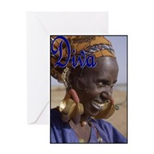ORIGINAL DIVA - MALI WOMAN Greeting Cards