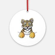 Pocket Tiger Ornament (Round)