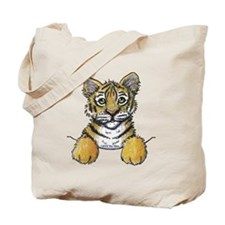 Pocket Tiger Tote Bag