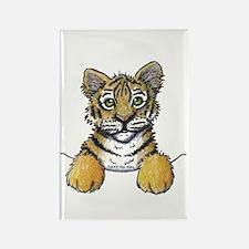 Pocket Tiger Rectangle Magnet