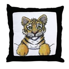 Pocket Tiger Throw Pillow