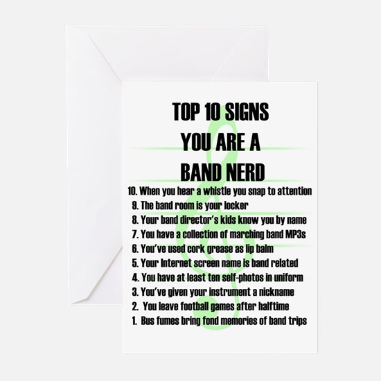 Band Nerd Top 10 Signs Greeting Cards (6)