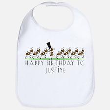 Happy Birthday Justine (ants) Bib