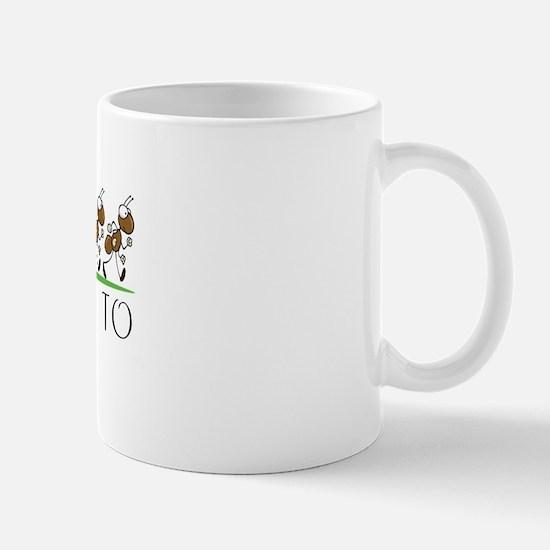 Happy Birthday Justine (ants) Mug