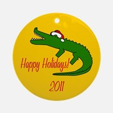 Alligator Round Christmas Ornament