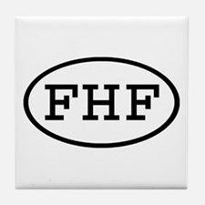FHF Oval Tile Coaster