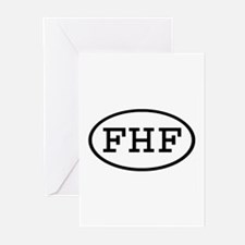 FHF Oval Greeting Cards (Pk of 10)