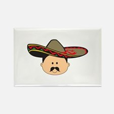 MAN IN SOMBRERO Magnets
